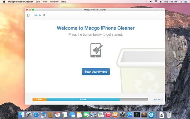 WatFile.com Download Free Macgo Free iPhone Cleaner for Mac - clean your iOS devices trash