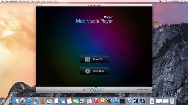 main interface of free mac video player